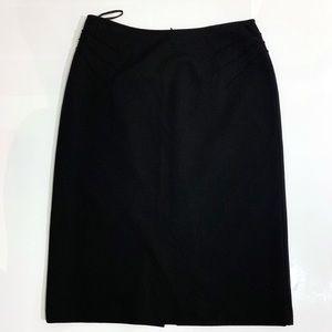 Lafayette 148 New York Pencil Skirt Black Size 8
